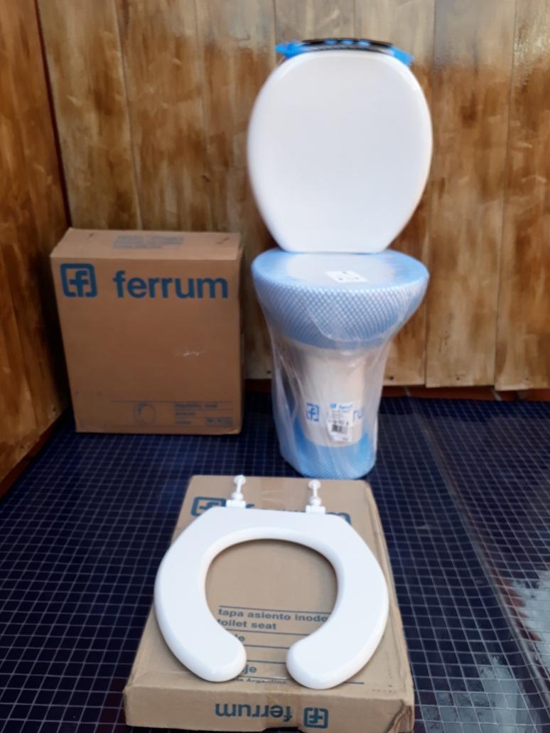 Inodoro alto deposito ba o discapacitados tapa ferrum for Inodoro para discapacitados ferrum